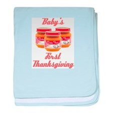 Baby's First Thanksgiving baby blanket