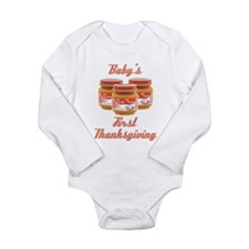 Baby's First Thanksgiving Long Sleeve Infant Bodys