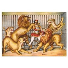 Lion Tamer Old Circus Print