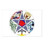 Celtic Pentagram Postcards (Package of 8)
