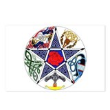 Celtic Pentagram Postcards (Package of 8)