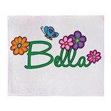 Bella Flowers Throw Blanket