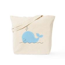 Little Blue Whale Tote Bag