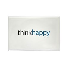 Think Happy Rectangle Magnet (100 pack)