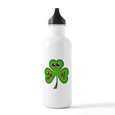 Cute Kawaii Art Shamrock Water Bottle
