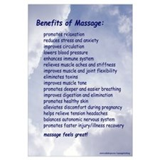 Benefits Of Massage 16X20 Blue