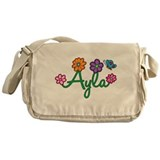 Ayla Flowers Messenger Bag