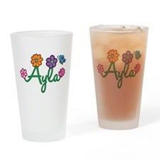 Ayla Flowers Drinking Glass