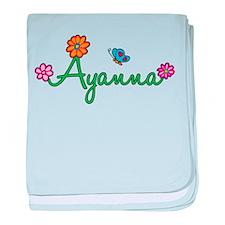 Ayanna Flowers baby blanket