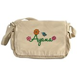 Ayana Flowers Messenger Bag