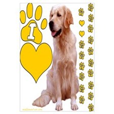 "Golden Retriever ""I love Golden Retrievers"" Mini P"