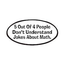 Math Jokes Patches