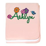 Ashlyn Flowers baby blanket