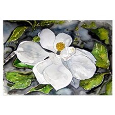 Magnolia tree flower art wate