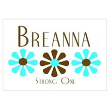Breanna - Blue/Brown Flowers