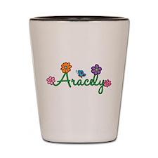 Aracely Flowers Shot Glass
