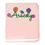 Aracely Flowers baby blanket