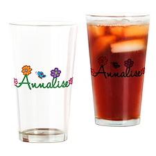 Annalise Flowers Drinking Glass