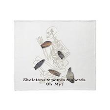 Skeletons, Points, & Sherds Throw Blanket
