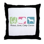 Peace, Love, Cane Corsos Throw Pillow