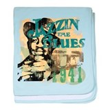 Jazzin The Blues baby blanket