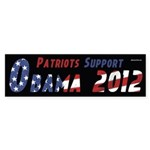 Patriots support Barack Obama bumper sticker