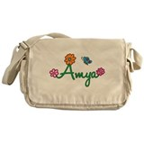 Amya Flowers Messenger Bag
