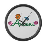 Amani Flowers Large Wall Clock