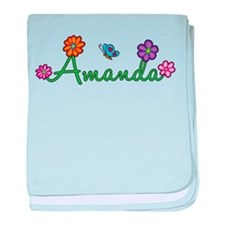 Amanda Flowers baby blanket