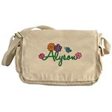 Alyson Flowers Messenger Bag