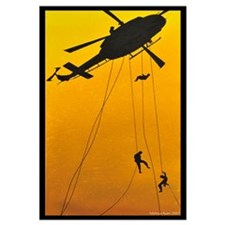 ch-146 griffon troops rappelling