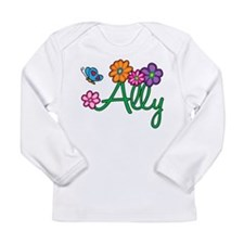 Ally Flowers Long Sleeve Infant T-Shirt