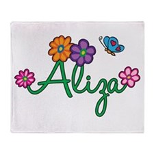 Aliza Flowers Throw Blanket