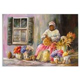 Cute Basket lady Wall Art