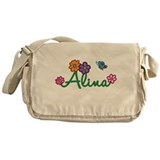 Alina Flowers Messenger Bag