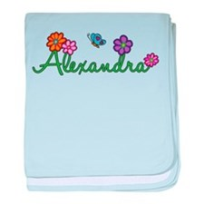Alexandra Flowers baby blanket
