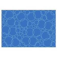 Blue Bubble Scrapbook Background