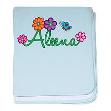 Aleena Flowers baby blanket