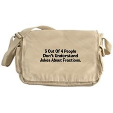 Fraction Jokes Messenger Bag