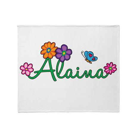 Alaina Flowers Throw Blanket