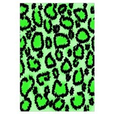 Bright green animal print