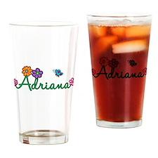 Adriana Flowers Drinking Glass