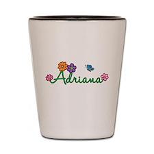 Adriana Flowers Shot Glass