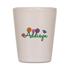 Addisyn Flowers Shot Glass