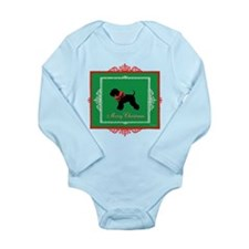 Merry Christmas Schnauzer Long Sleeve Infant Bodys