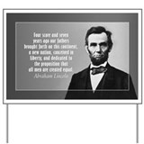 Abe Lincoln - Gettysburg Address Yard Sign