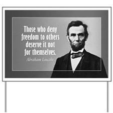 Abe Lincoln Quote on Slavery Yard Sign