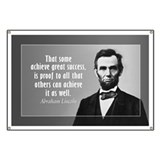 Abe Lincoln Quote on Success Banner