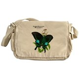 Paris Peacock Butterfly Messenger Bag
