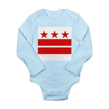 3 Stars 2 Bars Long Sleeve Infant Bodysuit